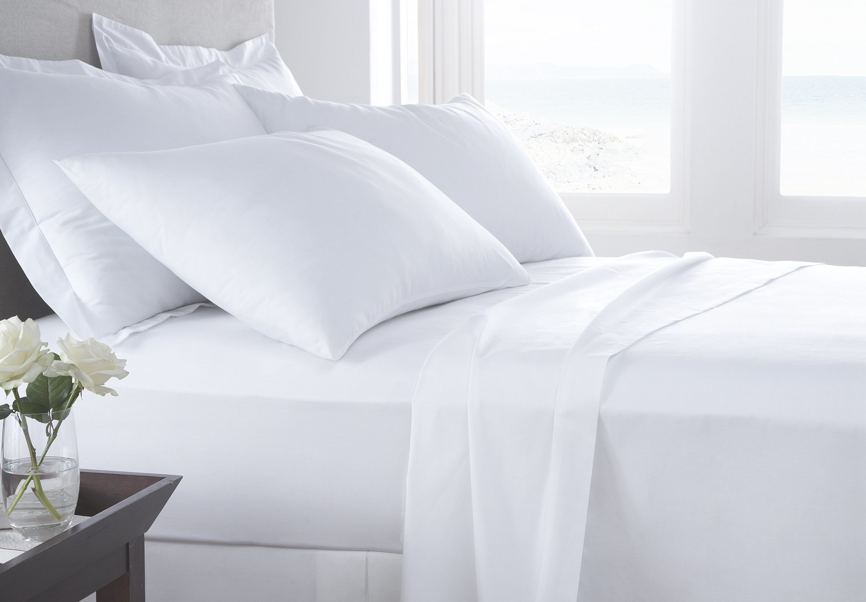 White Luxury T300 Hotel Sheets